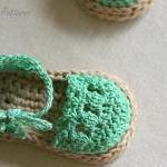 Crochet Pattern for Baby Espadrille..