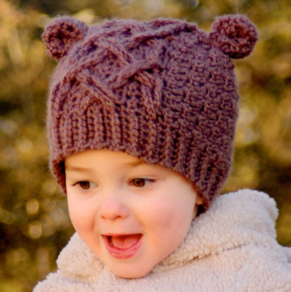 Crochet Hat Pattern Little Bear Cable Hat On Luulla