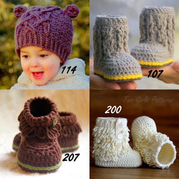Crochet patterns Any 4 crochet Patterns from our shop for 17.00