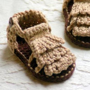 Moccasin Sandals Crochet Pattern Baby booties Crochet Pattern 106