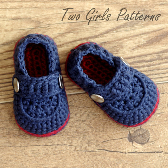 Crochet Patterns Baby Boy Booties The Sailor Pattern Number