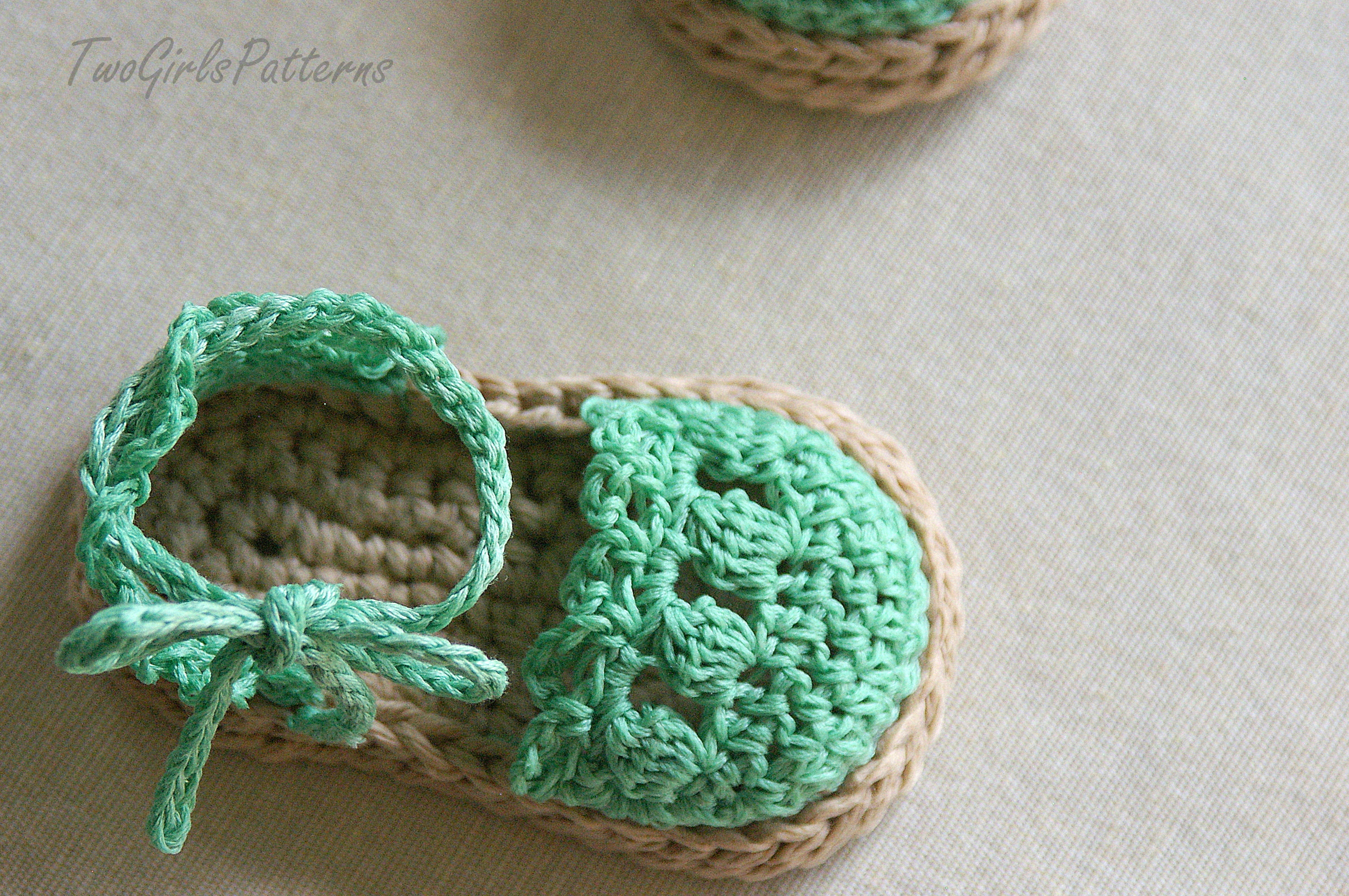 Crochet Pattern For Baby Espadrille Sandals - Crochet Pattern 119 on ...